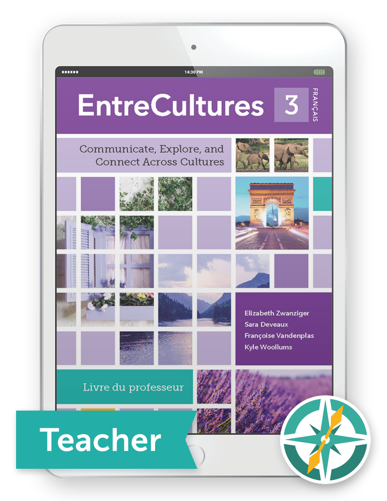 EntreCultures 3, Français - One-Year Digital Teacher Package (Teacher FlexText® + Student FlexText® + Explorer)
