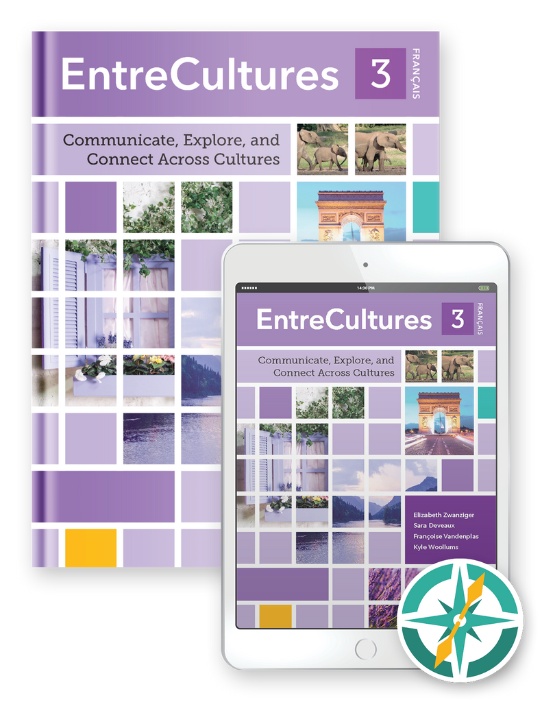 EntreCultures 3, Français - One-Year Hardcover Print and Digital Student Package