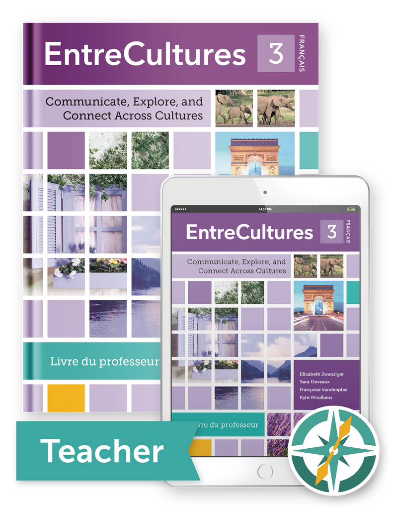 Coming soon! EntreCultures 3, Français - One-Year Softcover Print and Digital Teacher Package