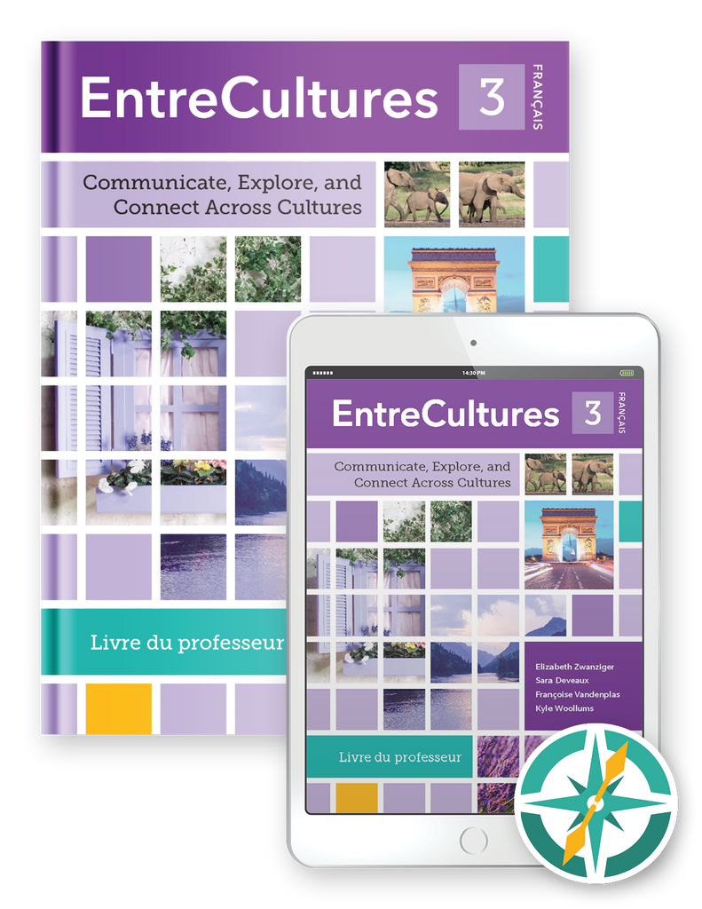 Coming Soon! EntreCultures 3, Français - Multi-Year Softcover Print and Digital Teacher Package