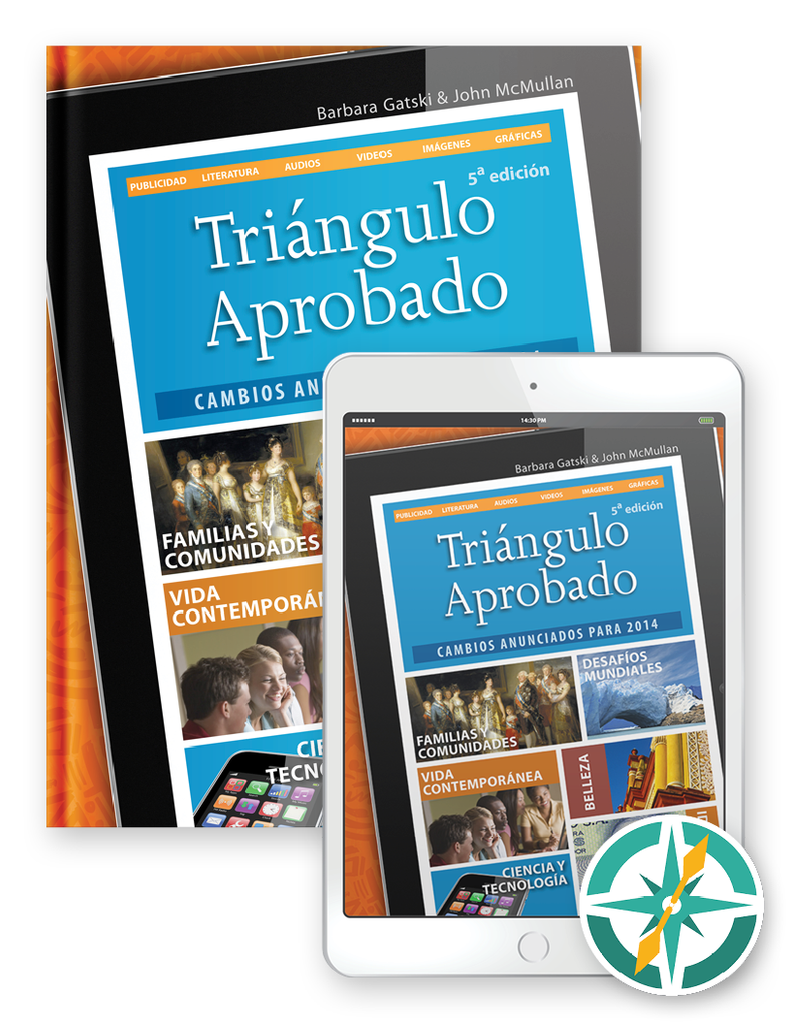 Triángulo Aprobado, 5th Edition - One-Year Hardcover Print and Digital Student Package