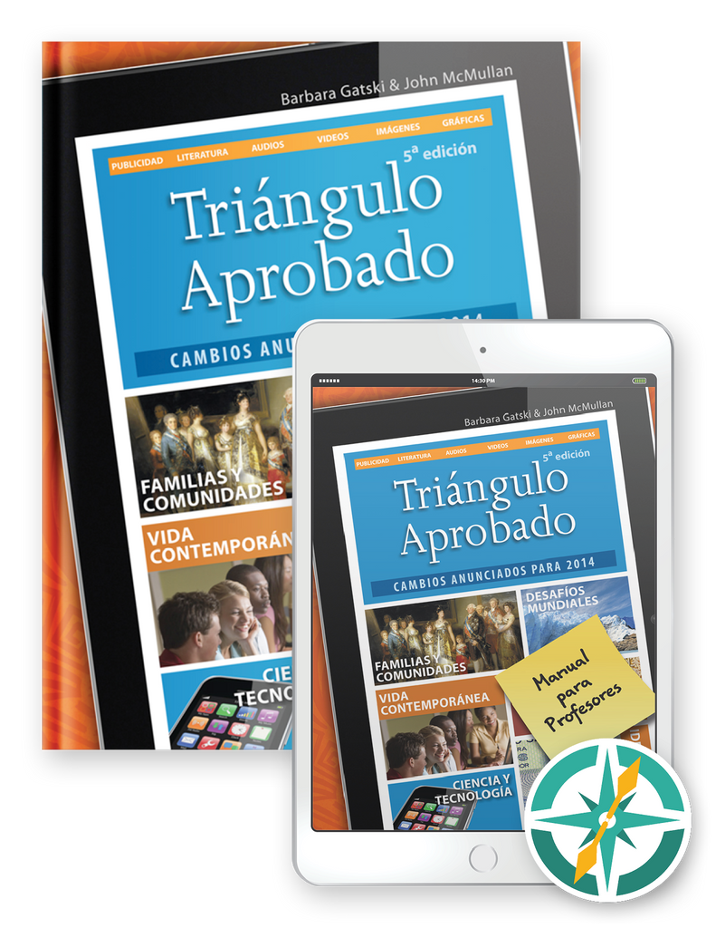 Triángulo Aprobado, 5th Edition - One-Year Softcover Print and Digital Student Package
