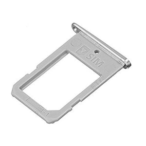 Sim Card Tray For Samsung Galaxy S6 Edge (Silver) - Wholesale Smartphone Parts - lcdcycle.com