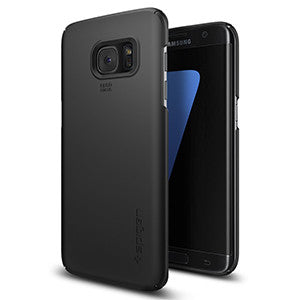 Spigen Thin Fit Case for Samsung Galaxy S7 Edge – Black - Retail Packaged - Wholesale Smartphone Parts - lcdcycle.com