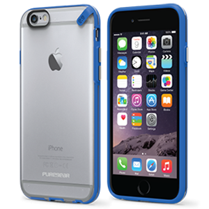 PureGear Slim Shell Case for Apple iPhone 6 Plus / iPhone 6S Plus - Clear / Blue - Retail Packaged - Wholesale Smartphone Parts - lcdcycle.com