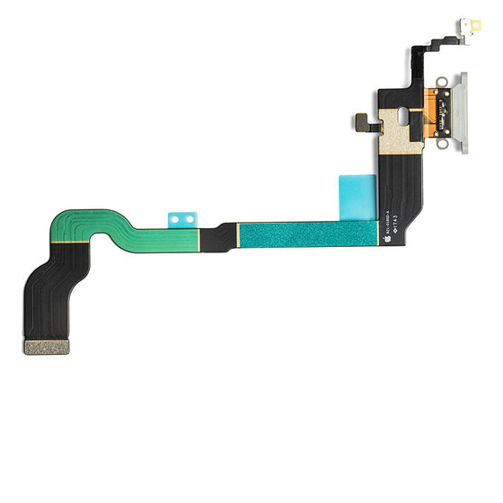 iPhone X Charging Port Flex Cable - Silver