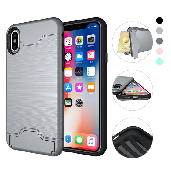 iPhone X Simple Ripple Card Case