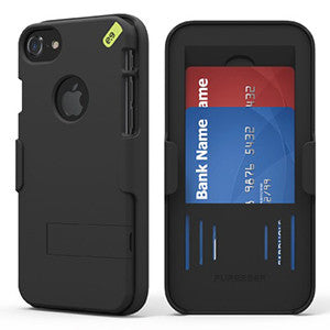 PureGear HIP Case+ Shell and Holster Combo for Apple iPhone 7 Plus - Black - Retail Packaged