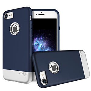 Prodigee Fit Case For Apple iPhone 7 - Navy Blue / Silver - Retail Packaged - Wholesale Smartphone Parts - lcdcycle.com