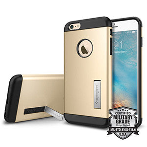 Spigen Slim Armor Case for Apple iPhone 6 / 6S - Champagne Gold - Retail Packaged - Wholesale Smartphone Parts - lcdcycle.com