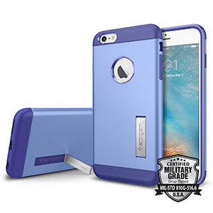 Spigen Slim Armor Case for Apple iPhone 6 Plus / iPhone 6S Plus – Violet - Retail Packaged - Wholesale Smartphone Parts - lcdcycle.com