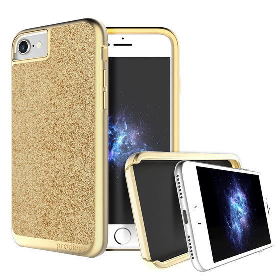 Prodigee Sparkle Case For Apple iPhone 6 / 6S / 7 - Gold - Retail Packaged - Wholesale Smartphone Parts - lcdcycle.com