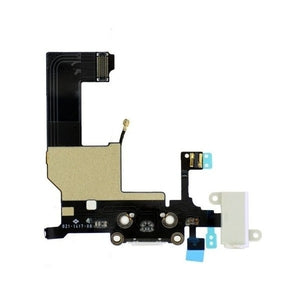 iPhone 5 Charging Port Flex Cable and Audio Jack White - Wholesale Smartphone Parts - lcdcycle.com