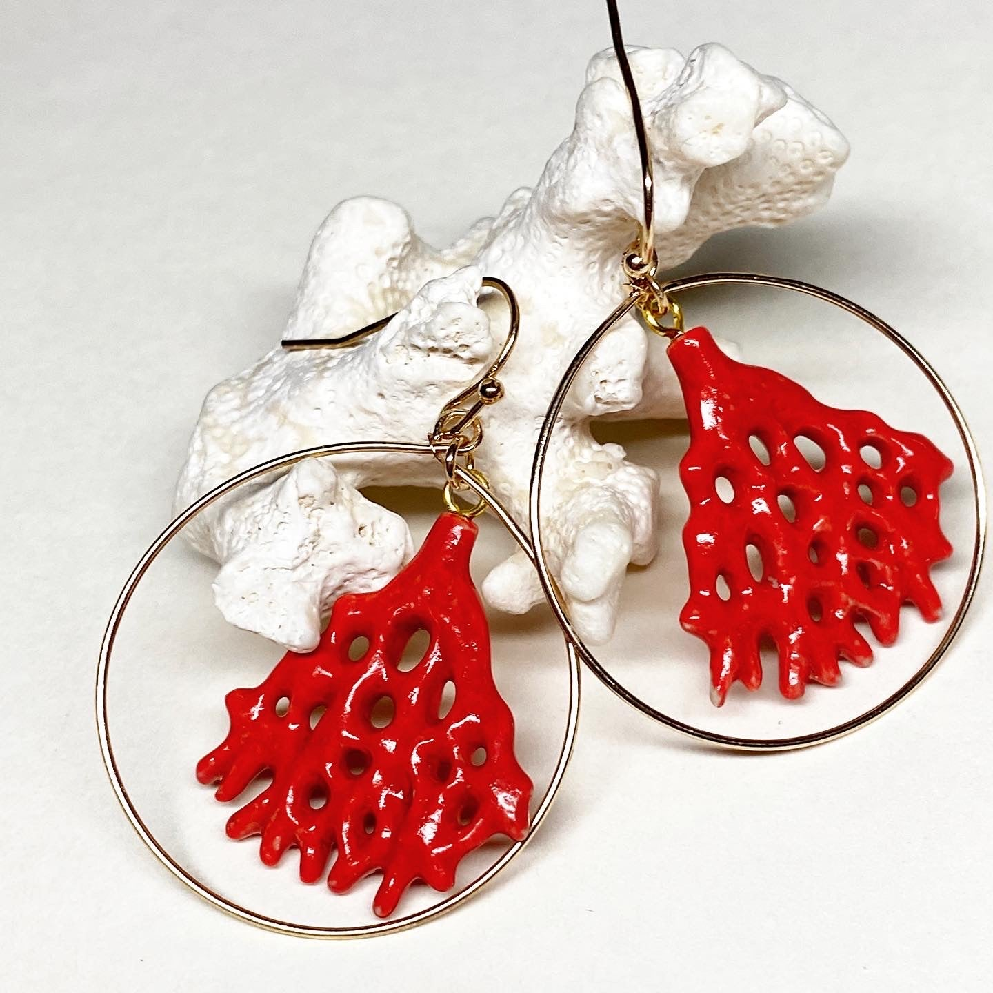 Red Coral Reef Earrings