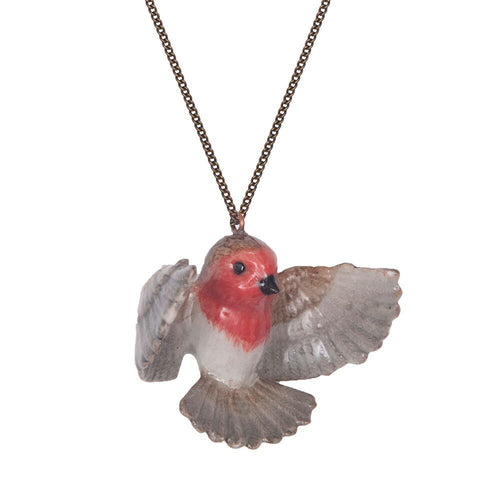 Flying Robin Necklace
