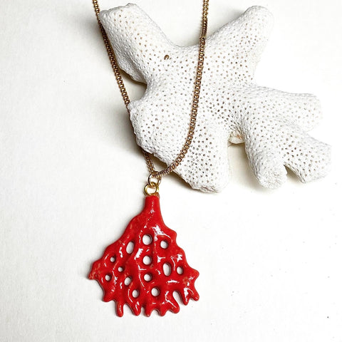 Red Coral Reef Necklace
