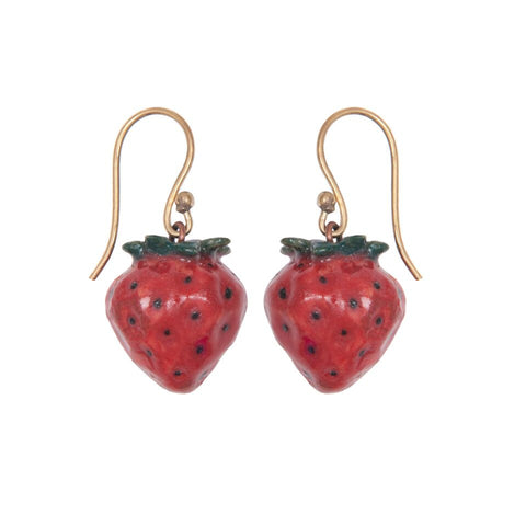 Natural Strawberry Earrings