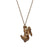 Brown Leaping Bunny Necklace