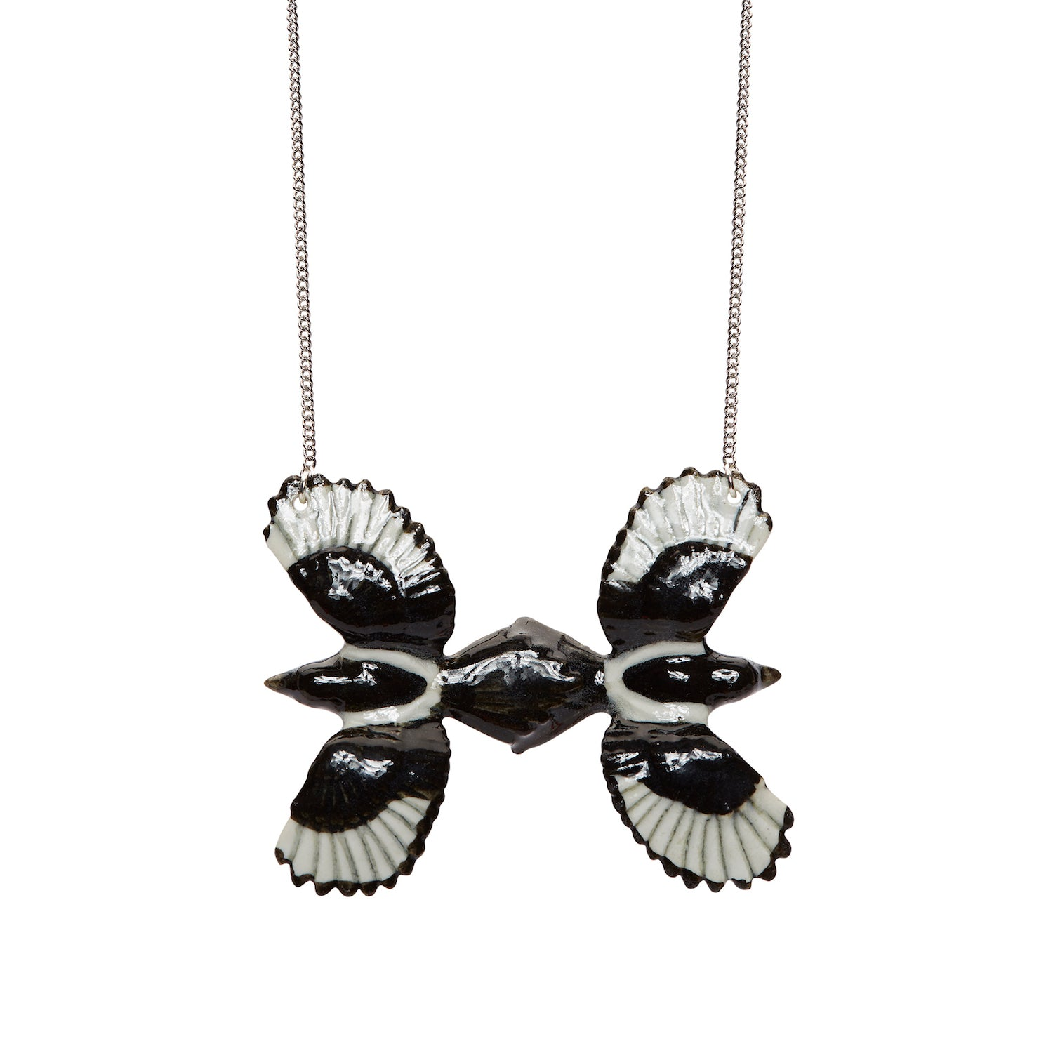 Two For Joy Black Magpie Necklace