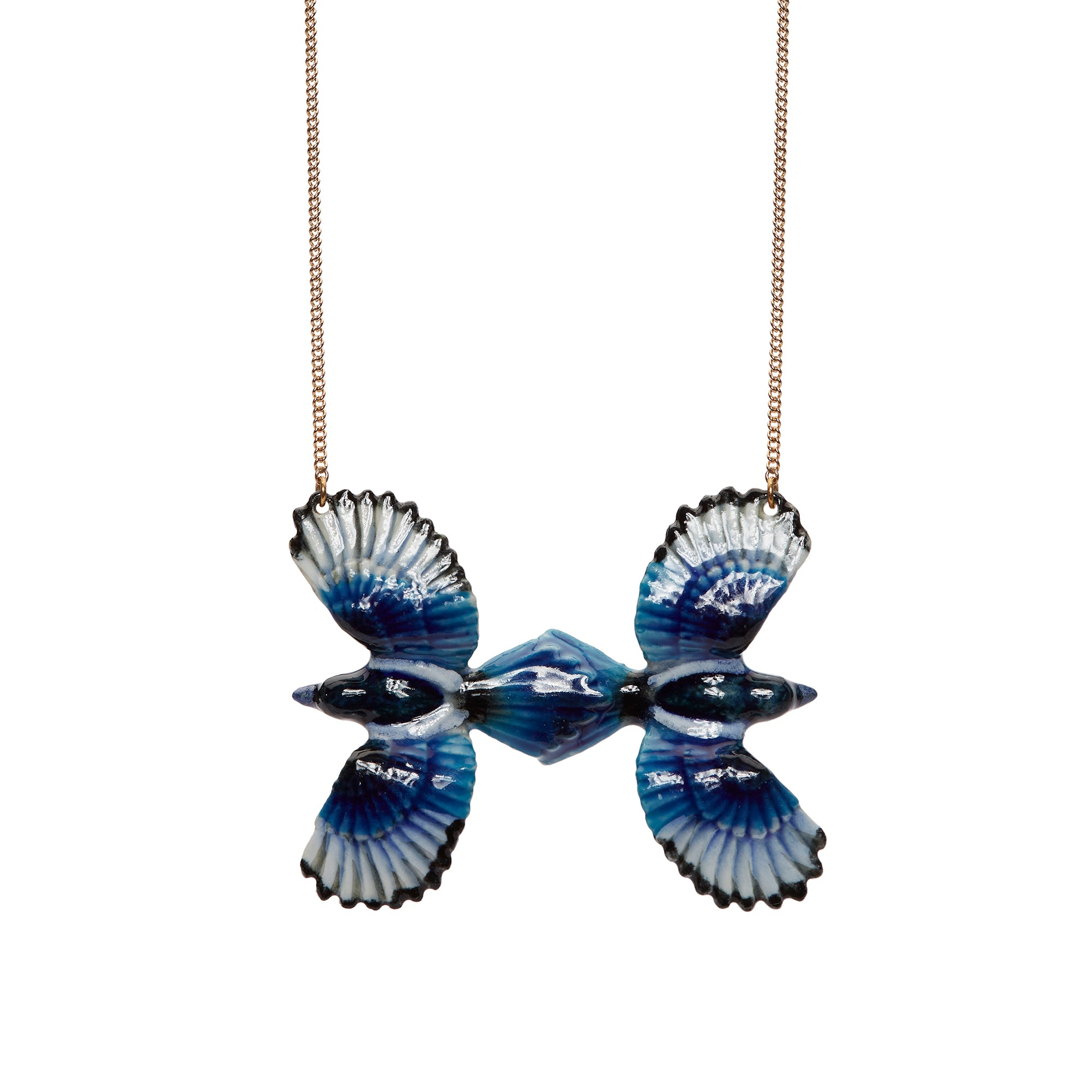 Two For Joy Blue Magpie Necklace