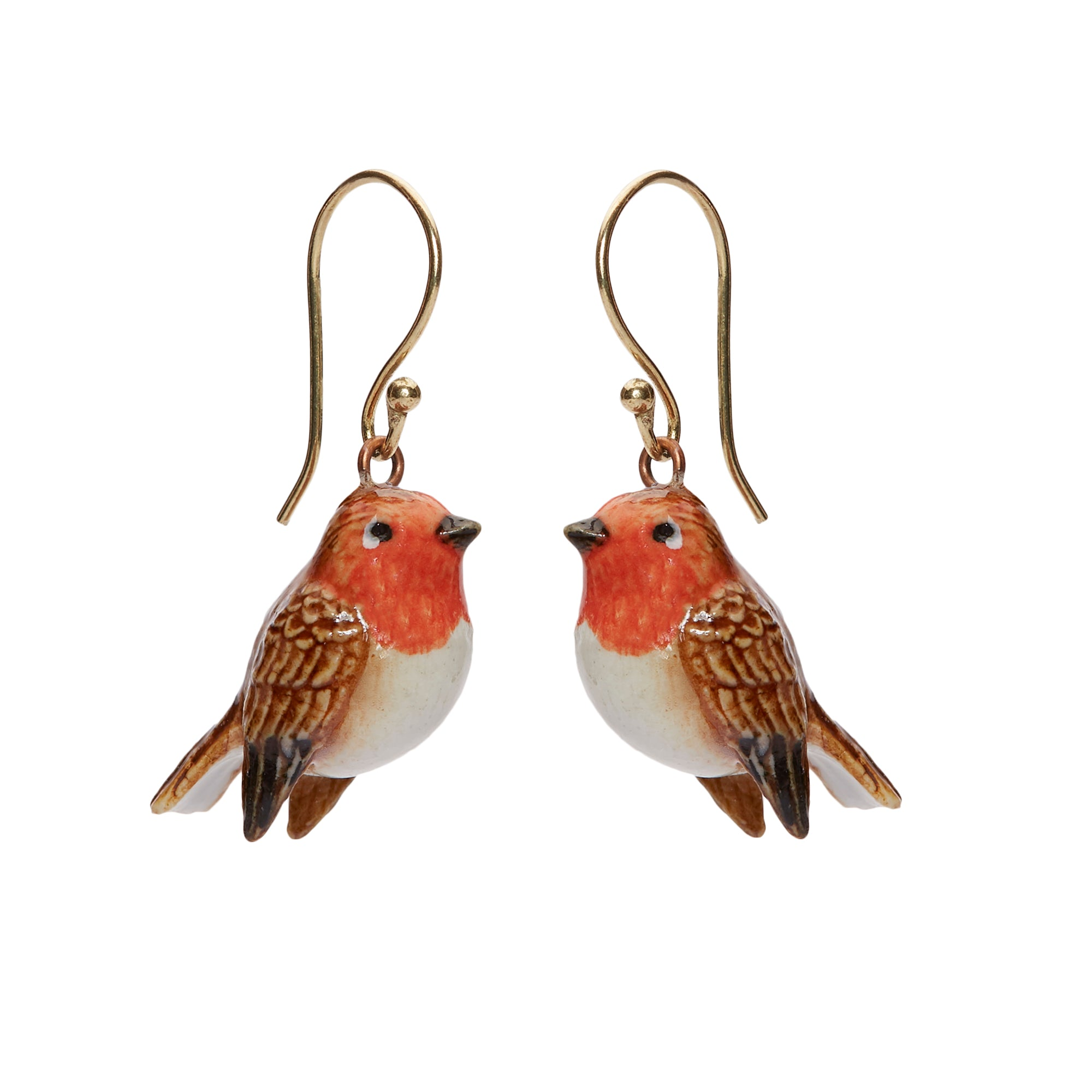 Tiny Robin Earrings