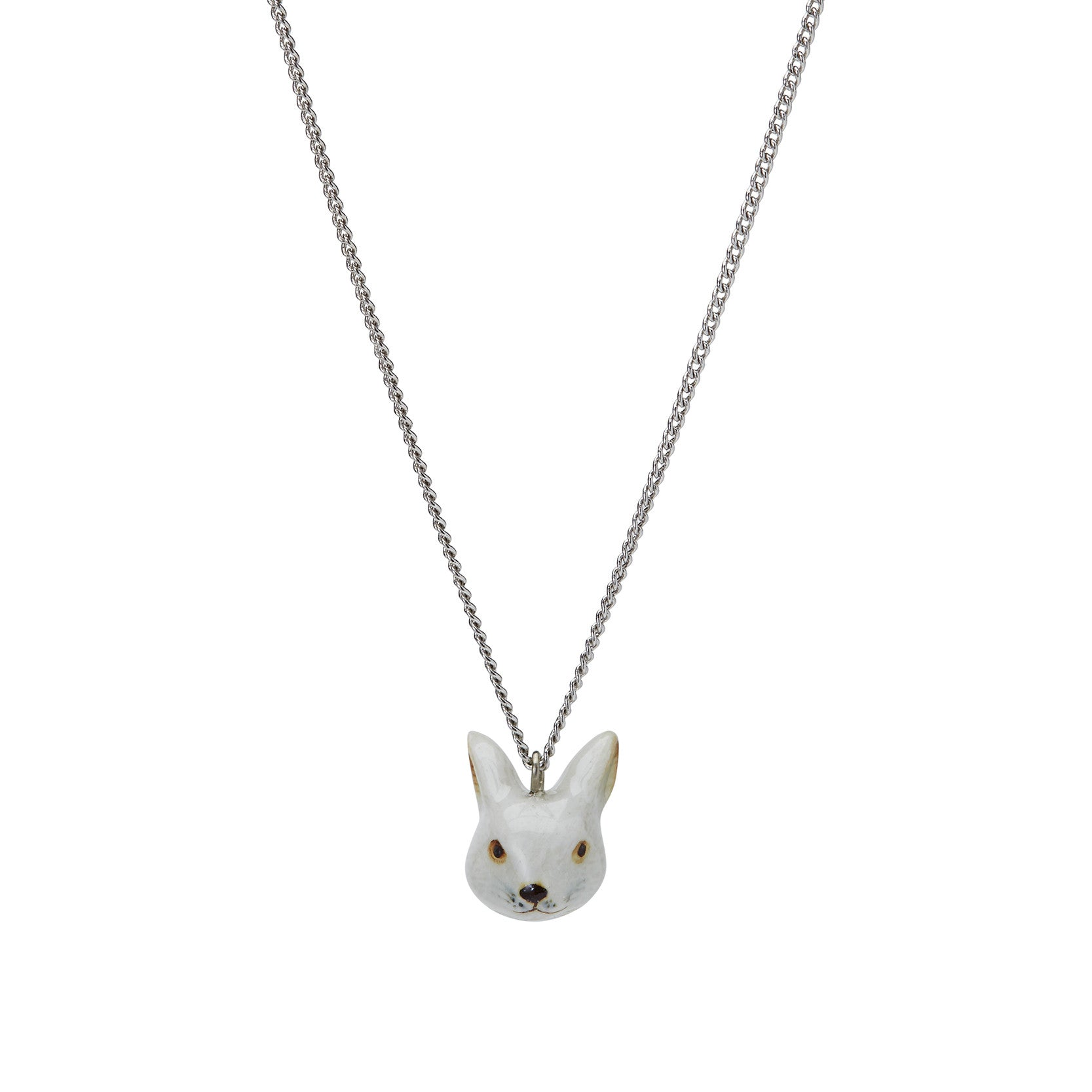 White Rabbit Head Necklace