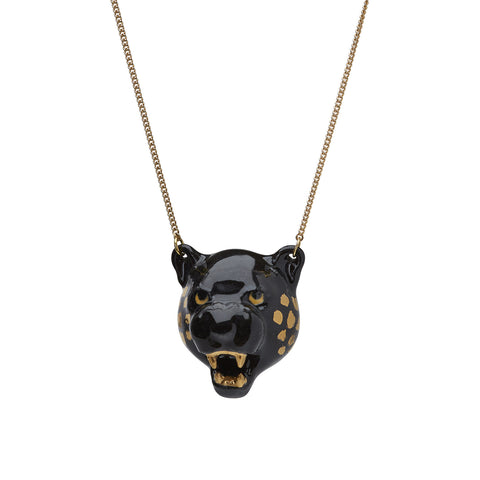 Panther Head Necklace
