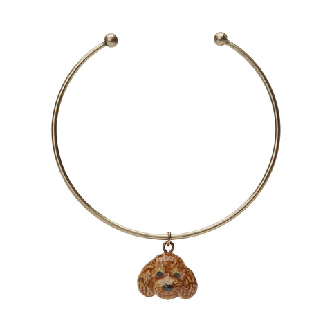 Apricot Poodle Charm Bangle