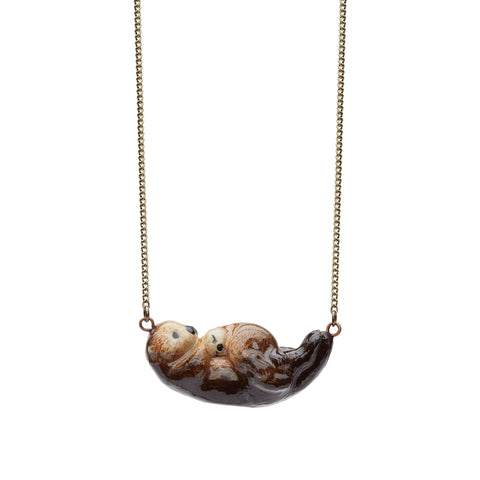 Sea Otter & Baby Necklace