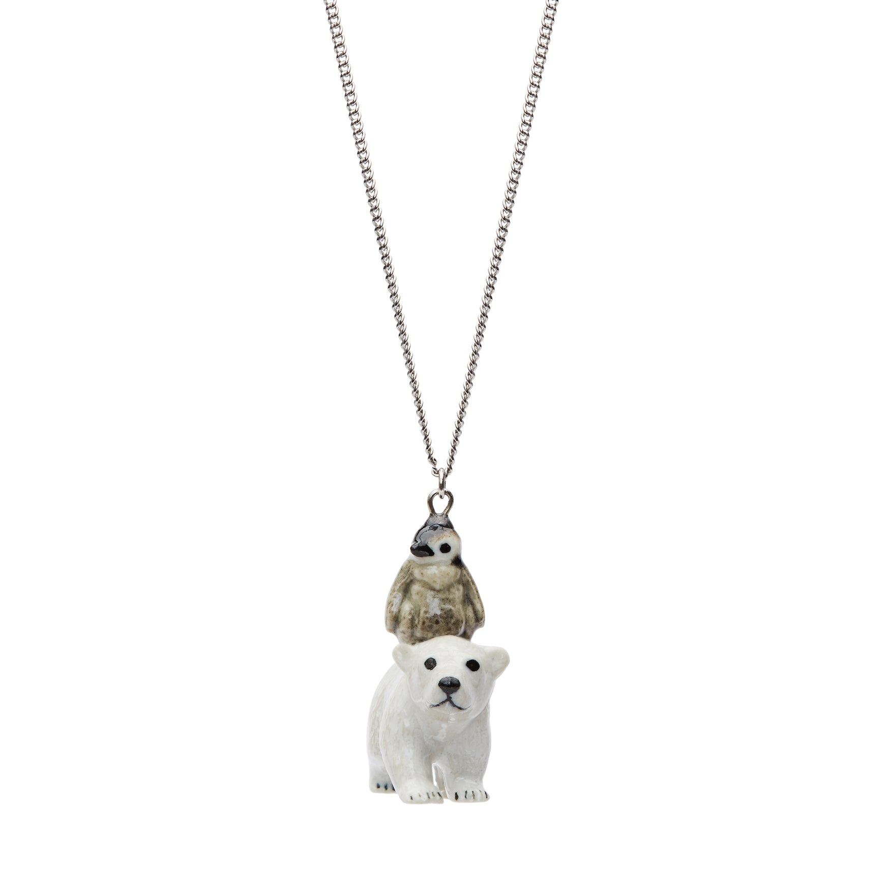 Polar Bear & Penguin Necklace