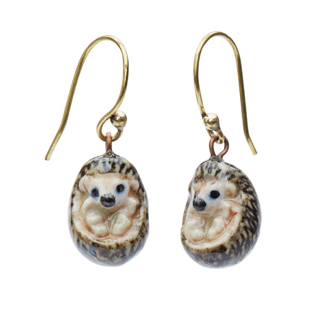 Baby Hedgehog Hook Earrings
