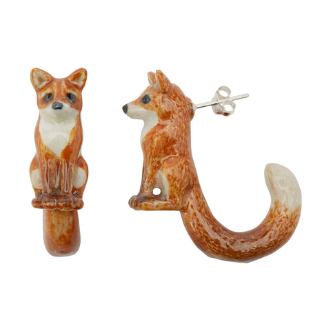 Fox Loop Tail Earrings