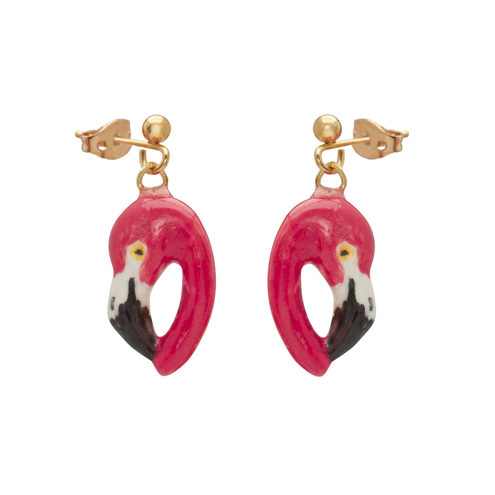 Flamingo Head Drop Earrings