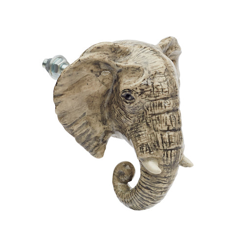 Grey Elephant Doorknob