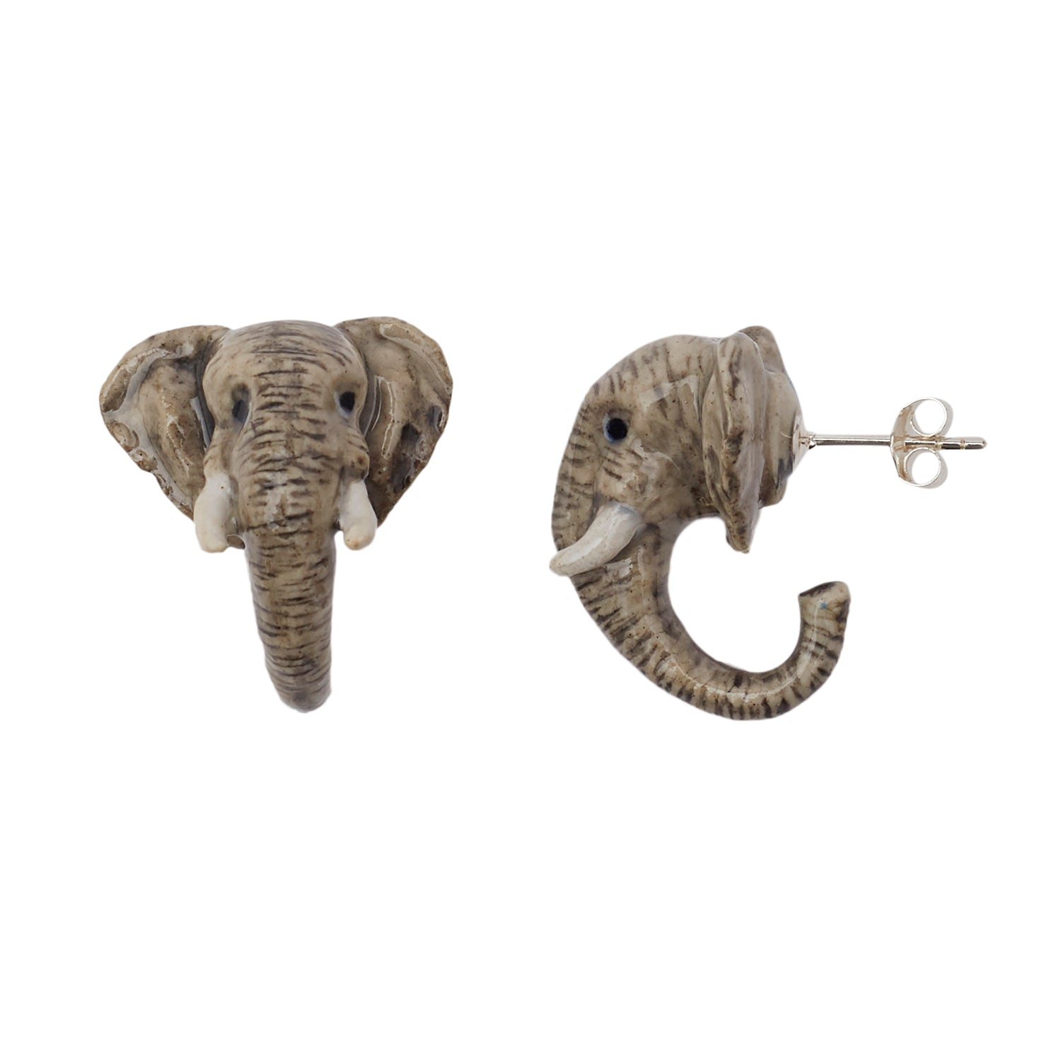 Elephant Head Stud Earrings