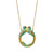 Jade Kissing Loop Tail Birds Necklace
