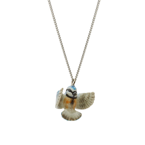 Tiny Blue Tit Necklace