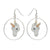 Pastel Unicorn Hoop Drop Earrings