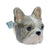 Grey French Bulldog Head Doorknob
