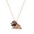 Sitting Brown Dachshund Puppy Necklace
