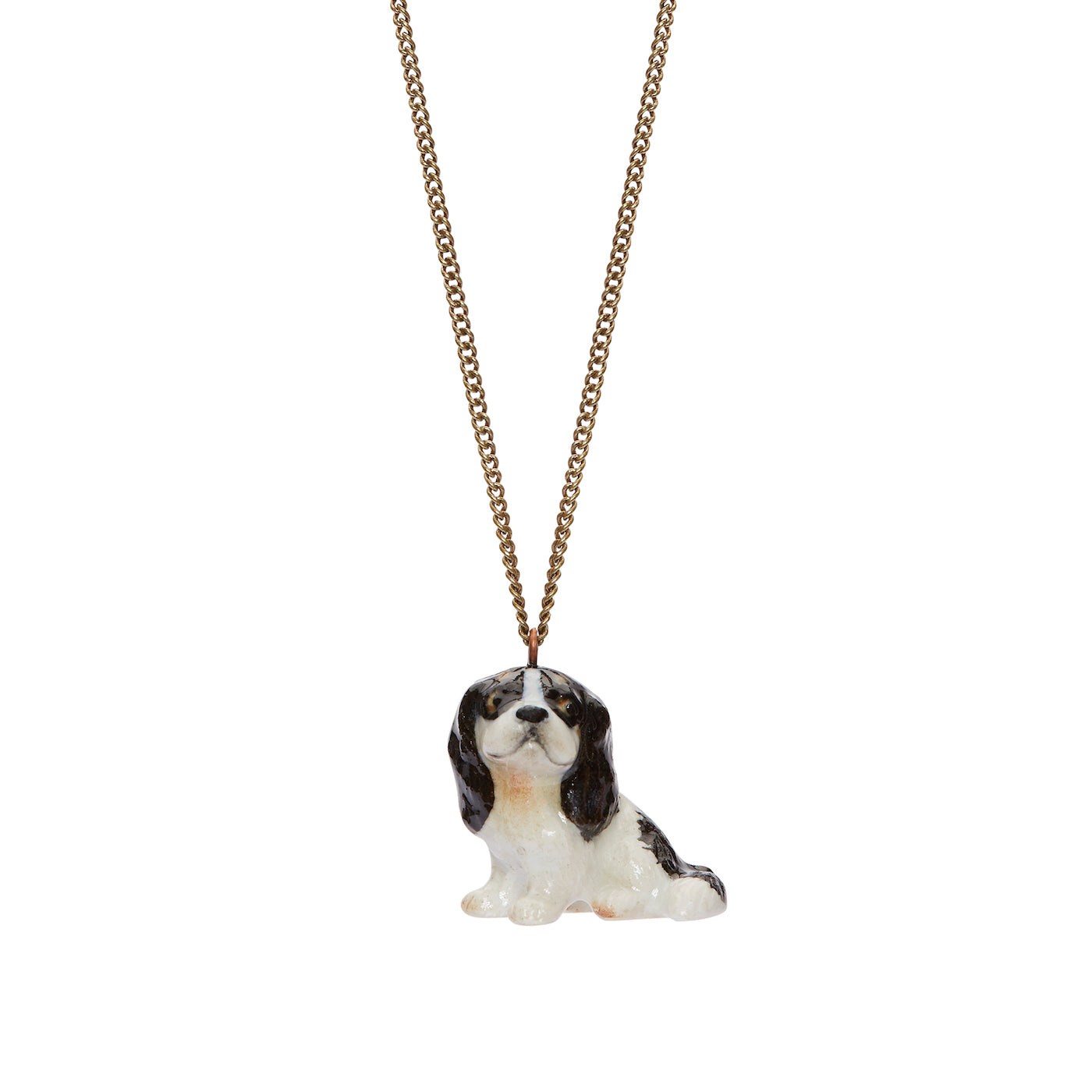 Black King Charles Spaniel Necklace