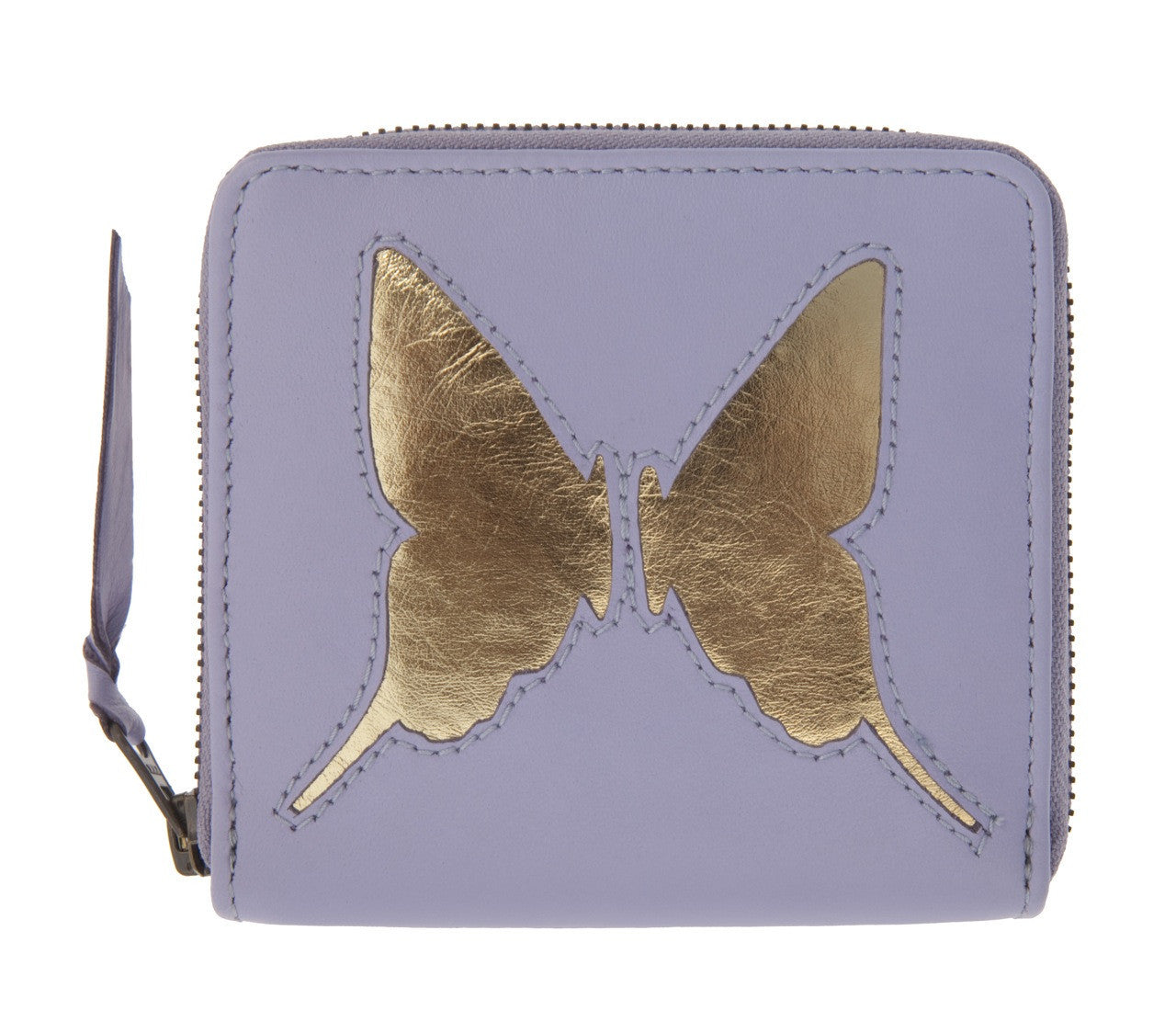Lavender Leather Butterfly Cut Out Purse