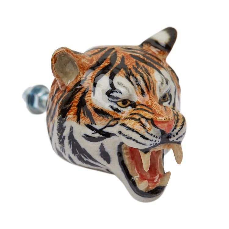 Roaring Tiger Head Doorknob