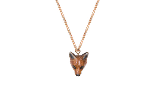 Fox Head Necklace