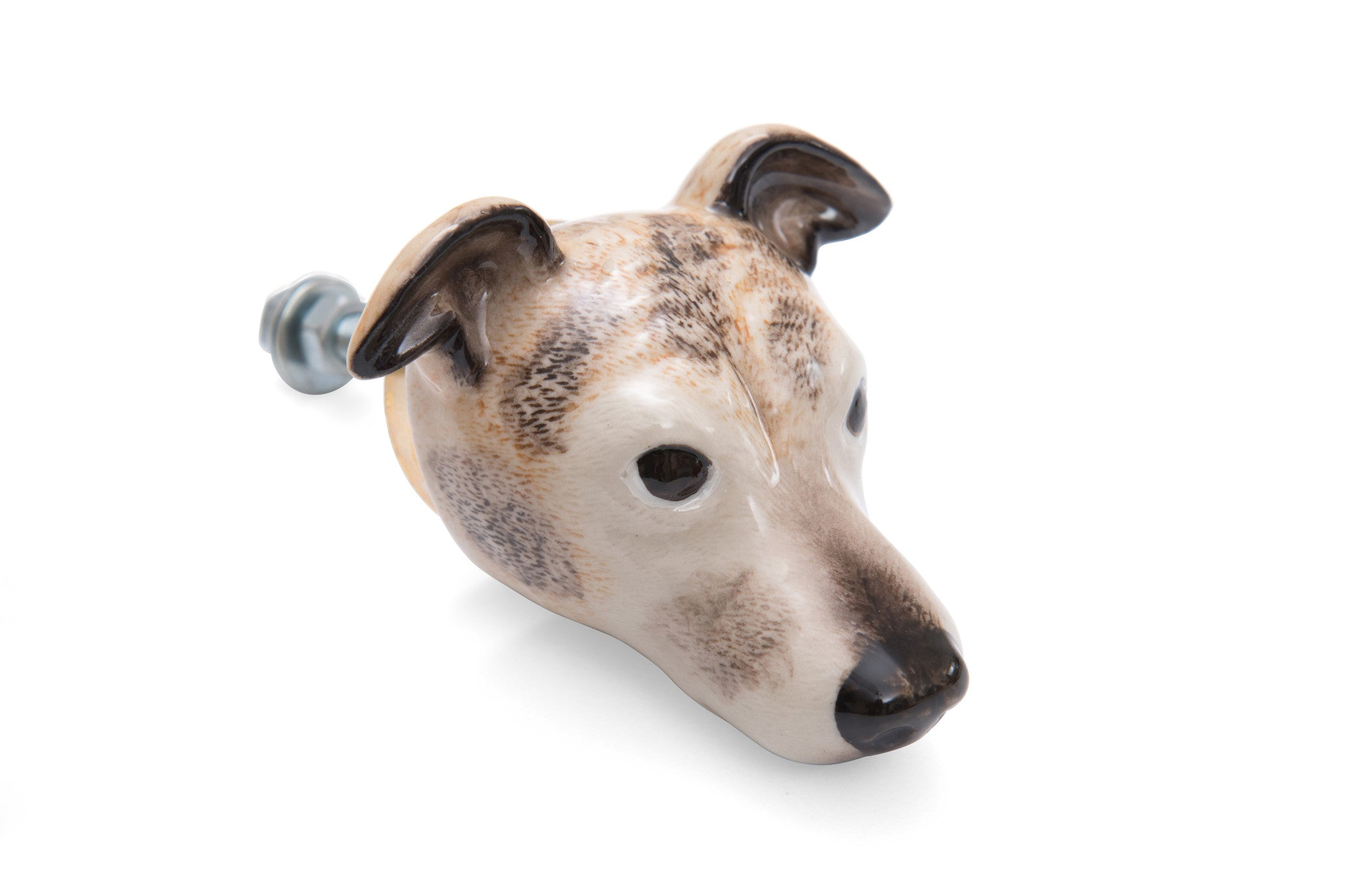 Brown Whippet Doorknob