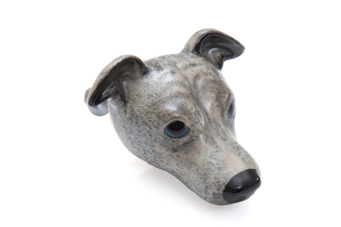 Grey Whippet Doorknob
