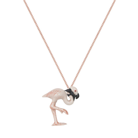 Small Pastel Flamingo Necklace