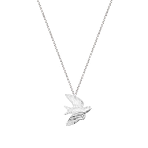 Sterling Silver Swallow Charm Necklace