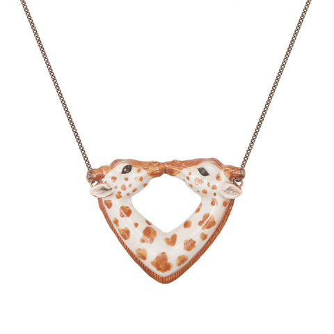 Kissing Giraffe Necklace