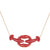 Red Kissing Lobster Necklace